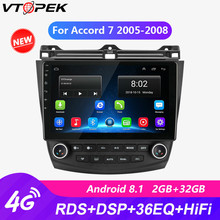 vtopek RDS 10 4G Wifi Car Radio For Honda Accord 7 2005-2008 autoradio Android Touch screen GPS Mirror-link Multimedia Players