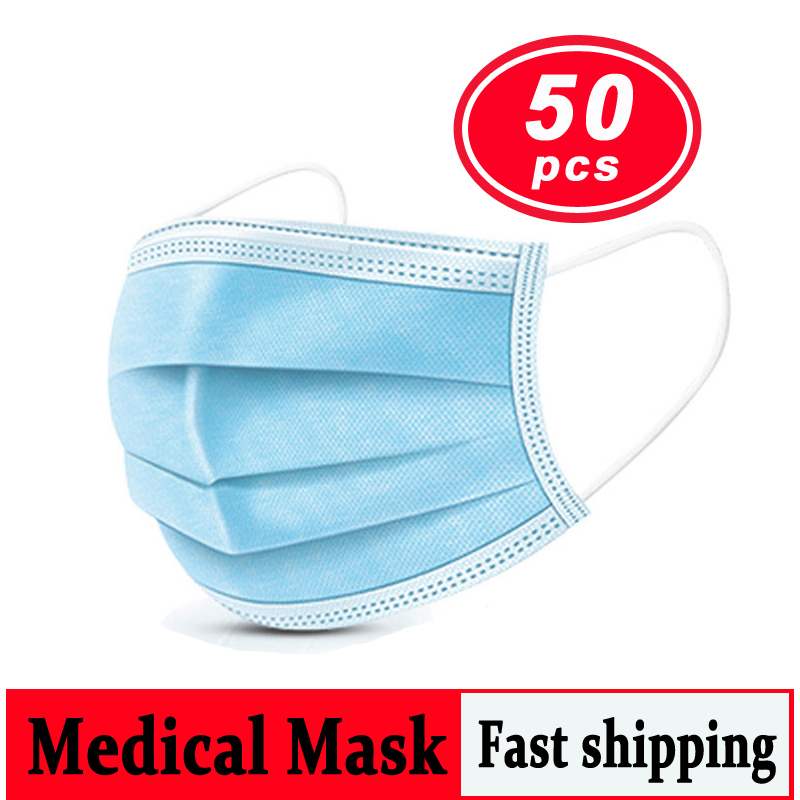 Disposable Medical Mask Breathable Anti Dust Mask Mouth Korean Blue Face Mask