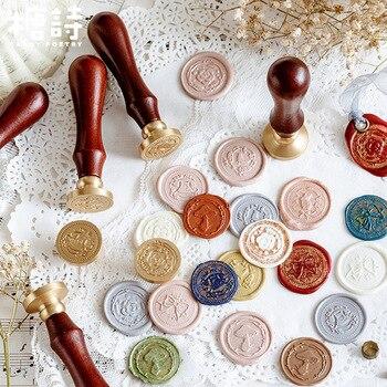 TUNACOCO Sealing Wax Stamp Seal Metal Sighnet Garden Dream Brass Bullet Journal DIY Crafts Qt1710155