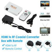 HDMI Zu RF Koaxial Konverter Box Sender w/Fernbedienung für Alte TV 1080P HDMI ZU TV Umwandlung rf signal Adapter