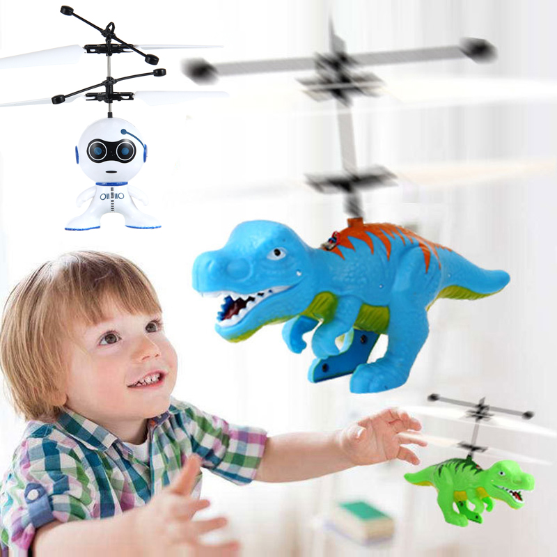 Intelligent Hand Sensing Fly Robot Kids Toys Electric Aircraft Drone Dinosaurs Toys For Child Helicopter Fly Ball With USB