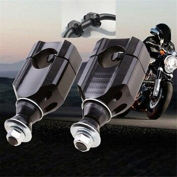 2Pcs  11/8 Inch 28mm CNC Motorcycle Handlebar Mount Riser Clamp Aluminium HandleBar Mounts