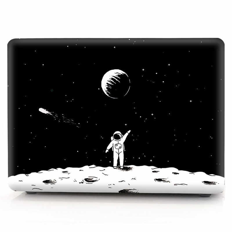ل أبل ماك بوك اير 13 حالة الكرتون الفضاء شفافة قذيفة غطاء لماك كتاب 13.3 بوصة ل ماك بوك اير 13 حالة A1932 2018