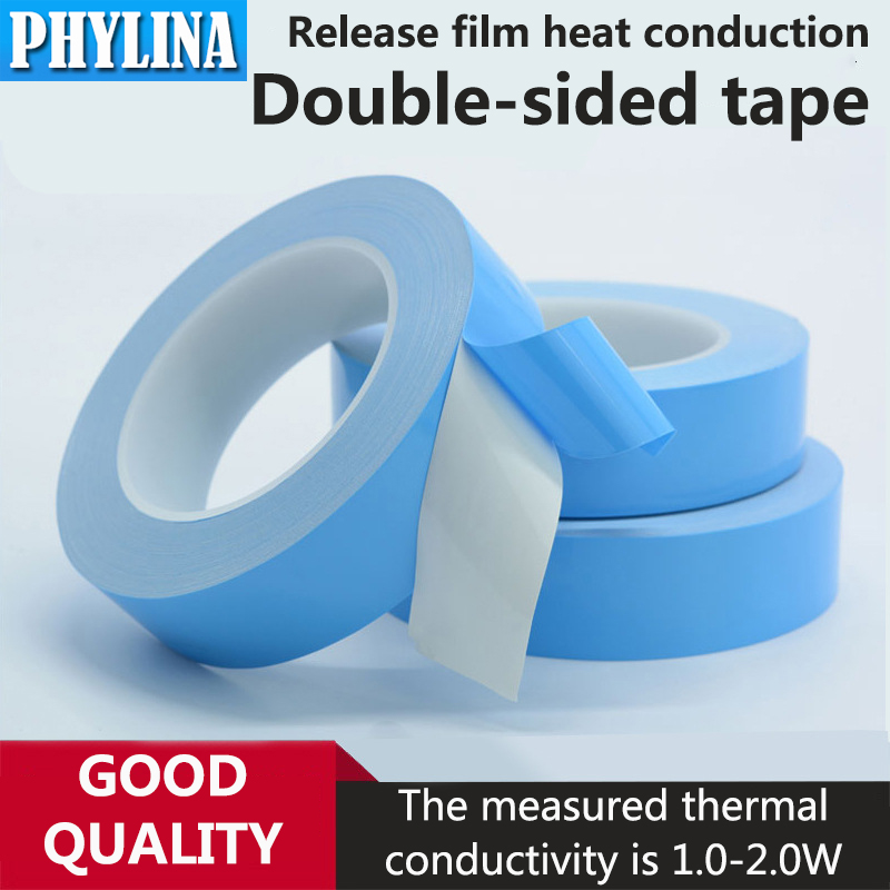 25Meters/Roll Heat Conduction Double-Sided Adhesive High Temperature Resistant Insulating Tape For PCB CPU LED Light Strip