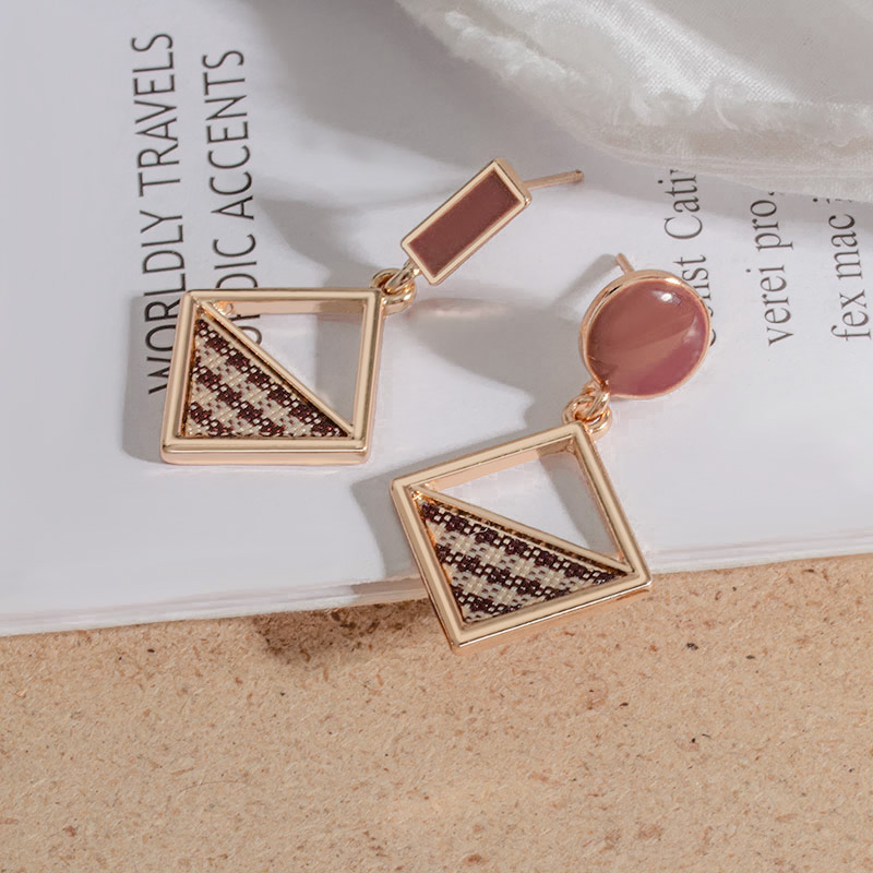 New Korean Geometric Statement Drop Earrings 2020 for Women Fashion Vintage Acrylic Brown Gold Dangle Hanging Earrings Jewelry