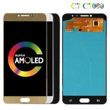 C7000 Super AMOLED Pour Samsung Galaxy C7 C7000 SM-C7000 ÉCRAN LCD Écran Tactile En Verre Numériseur Assemblée Pièce De Rechange