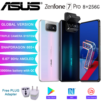 ASUS Zenfone 7 Pro versión global 8GB RAM 256GB ROM Snapdragon 865/865Plus 5000mAh NFC Android Q 90Hz 5G teléfono inteligente