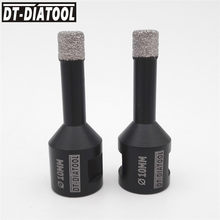 DT-DIATOOL 2 pièces Sec Foret de Diamant Brasé Sous Vide de Noyau En Céramique Carrelage Scie Professionnel Qualité Forets de Diamètre 10mm