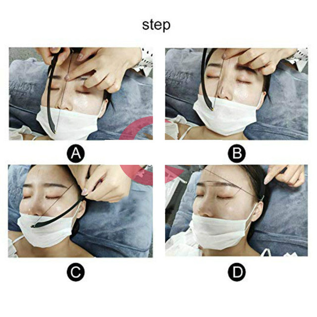 High Quality Microblading Line Marker Ruler with 10pcs Thread Lines Eyebrow Design Measuring Ruler Set Permanent Makeup Supplies 3