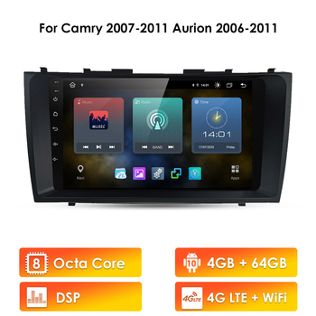 89 Car Multimedia Autoradio Stereo GPS Navigation Player For Toyota Camry 40 50 2007 2008 2009 2010 2011 Android 10 DAB+ RDS image