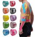 5 Размеры кинеозиологическая лента повязка для мышц; Спортивная одежда из хлопка эластичная клейкая травм деформации лента колена мышцы бо...