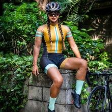 2021 Summer Women's Riding Clothes Pro Team Uniform Cycling Bib Short 9D Gel Pad MTB Bike Riding Shorts Bicycle Cycling Wear