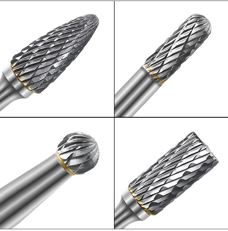 de tungstênio 6mm haste dupla corte sólido