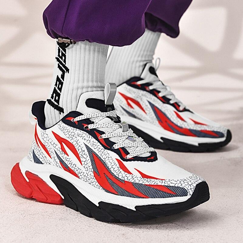 2021 Горячее предложение тренд Для мужчин кроссовки из дышащего материала на шнуровке Обувь для прогулок на открытом воздухе кроссовки Size39-46 ...