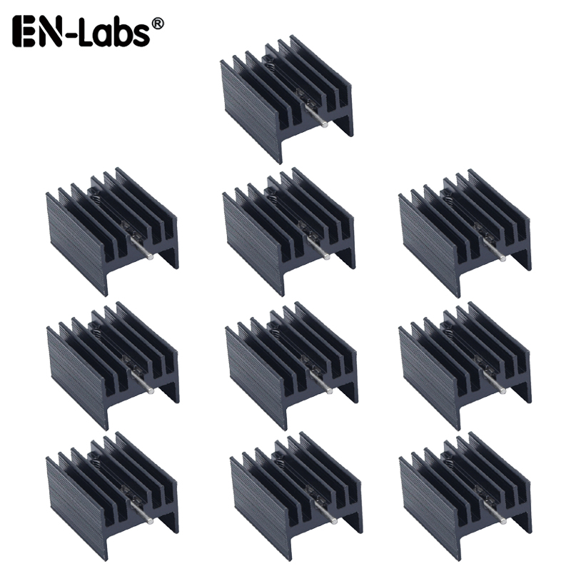 Aluminum Heat Sink TO-220 Mosfet TO 220 Heatsink Cooler Radiator For MOS LM317 L7805 L7812 L78XX Transistor Set IRFXX - 10pcs