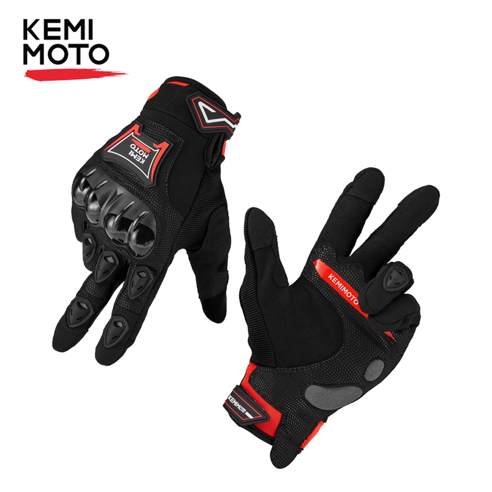 Protective-Gear Motorcycle-Gloves Touchscreen Racing Full-Finger-Guantes for PVC