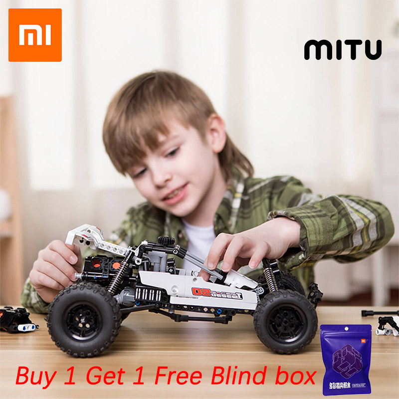 Xiaomi Mitu Building Blocks Robot Desert Racing Car DIY Educational Toys Ackermann Steering Cylinder Piston Linkage Kids Gift
