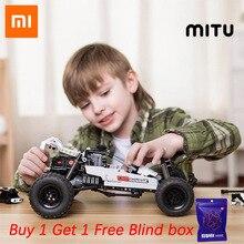 Xiaomi Mitu Building Blocks Robot Desert Racing Car DIY Educational Toys Ackermann Steering Cylinder piston linkage Kids Gift