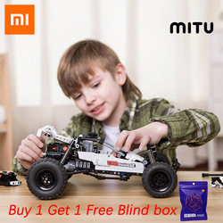 Xiaomi Mitu klocki Robot pustynny samochód wyścigowy DIY edukacyjne zabawki Ackermann cylinder sterujący tłok powiązania dzieci prezent w Inteligentny pilot zdalnego sterowania od Elektronika użytkowa na