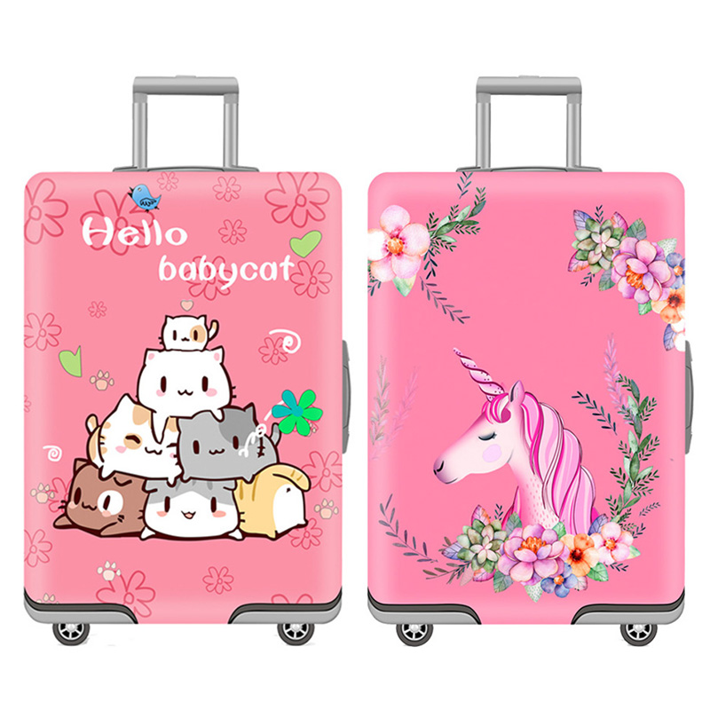 Cute Cartoon Pattern Luggage Protective Covers Luggage Cover Thicken Suitcase Cover 19-32 Inch Suitcase Case Travel Accessories