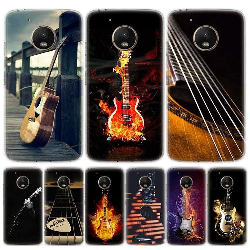 Bass Guitar Strings Music Guitares Instrument Phone Case For MOTO Motorola G8 E4 E5 E6 G7 G6 G5S Plus Play Power ONE Action Cove