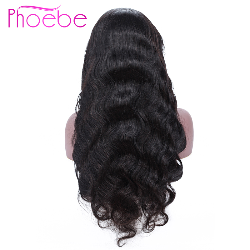 Phoebe 13x4 Lace Frontal Human Hair Wigs Peruvian Body Wave Lace Frontal Wig With Baby Hair For Black Women Non-Remy 130%Density