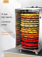 16 Layers Commercial Rotary Fruit Dryer Fruit Tea Sausage Beef Drying Case Food Dehydration Air Dryer Household Food Dehydrator