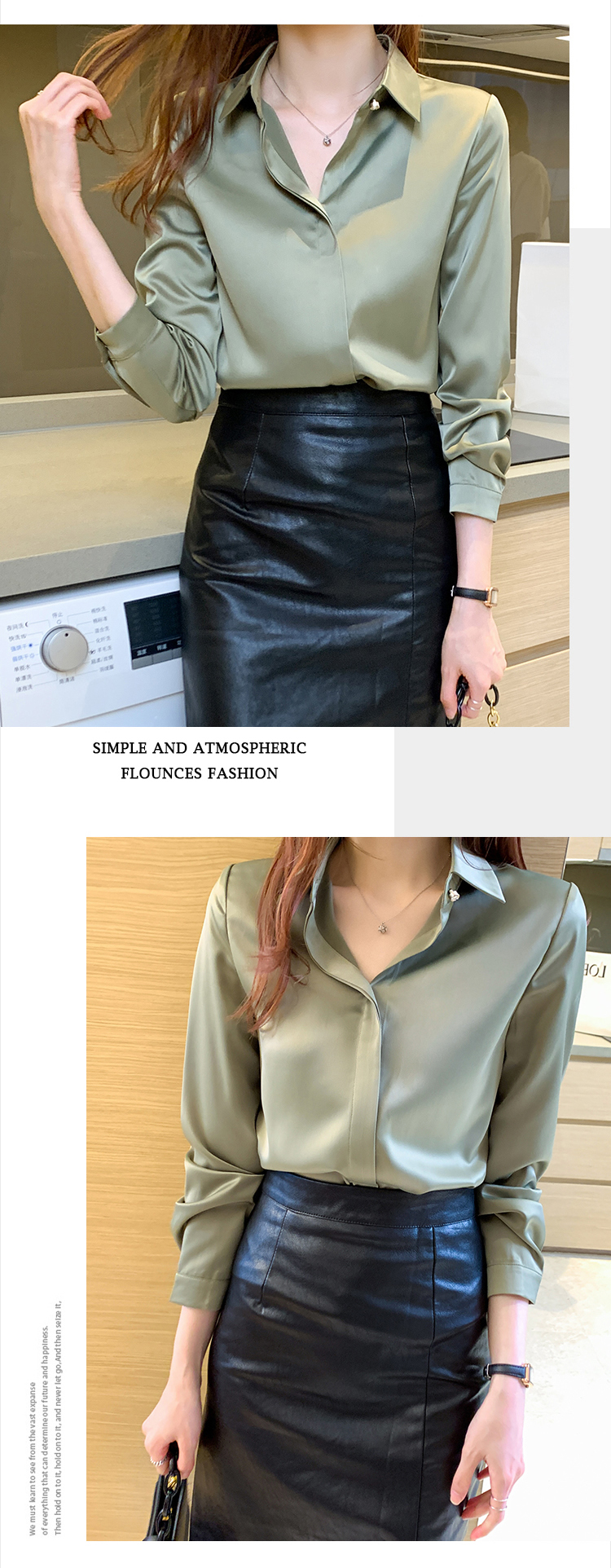 Long Sleeve Shirts Blouses for Women