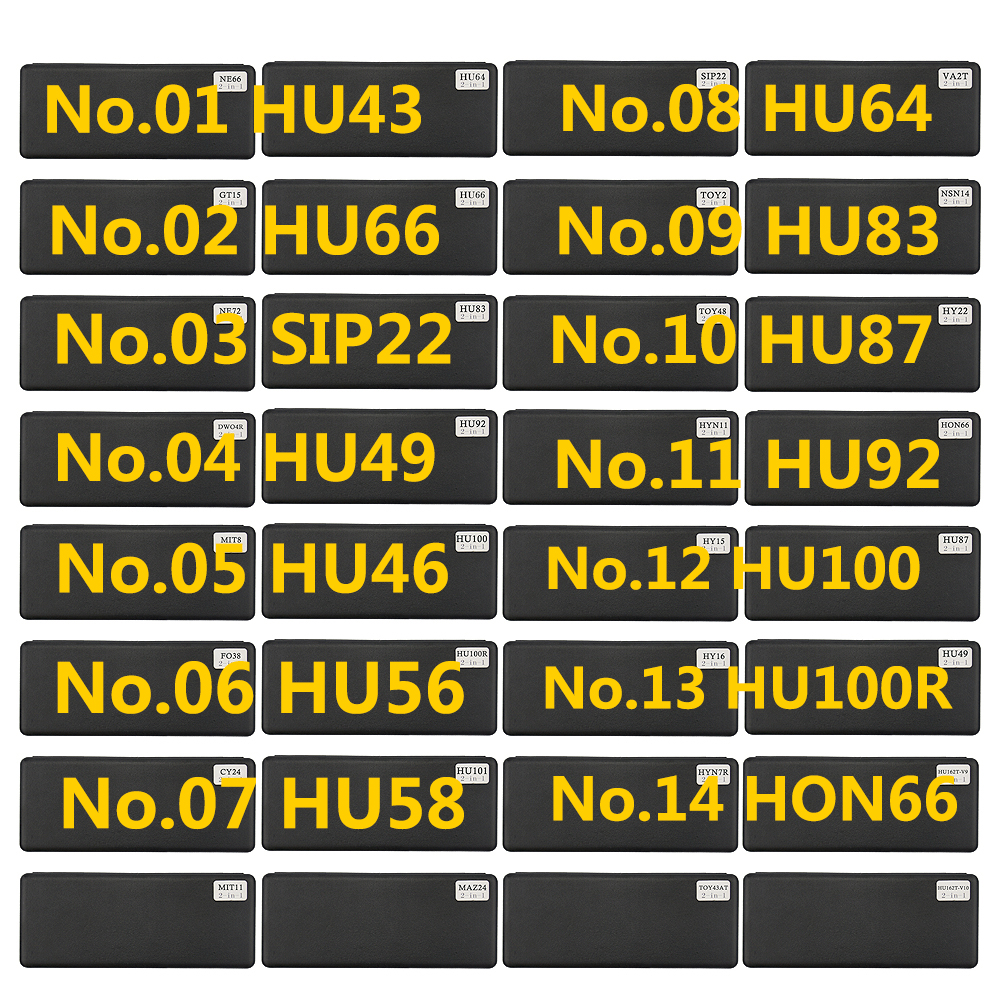 LiShi 2 In 1 Tool HU43 HU49 HU46 HU56 HU58 <font><b>HU64</b></font> HU66 SIP22 HON66 HU83 HU87 HU92 HU100 Locksmith Tools For All Types image