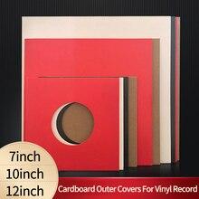 10 шт. жесткий картон внешняя крышка рукава куртки для 12 дюймов LP 10 дюймов 7 дюймовые часы с записью времени