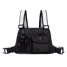 Men Women Tactical Vest Chest Bag Strap Radio Harness Front Backpack  Holster Military Pocket Pack