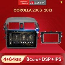 Junsun – autoradio V1, Android 10.0, 2 go/32 go, DSP, Navigation GPS, RDS, lecteur multimédia vidéo, dvd, 2 din, pour voiture Toyota Corolla (2006 – 2013)