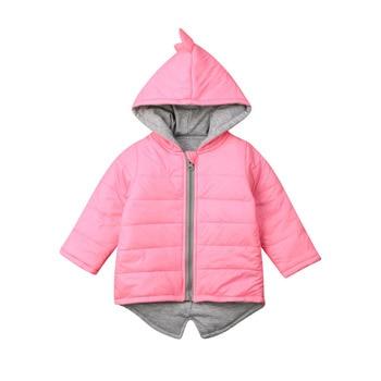 1-7 طن الاطفال طفل طفلة الصبي هوديي زيبر الشتاء معطف سميك دافئ سترة 3d ديناصور أبلى المعاطف والسترات 1