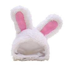 Funny Pet Dog Cap New Year Party Christmas Cosplay Costume Warm Rabbit Hat