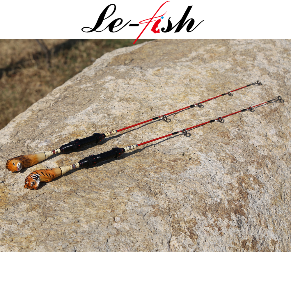 Le fish Ice Rod 2 sections 75mm Carbon Fiber Ice pole Ultra-light Carp Fishing Fish spear Tackle Hook
