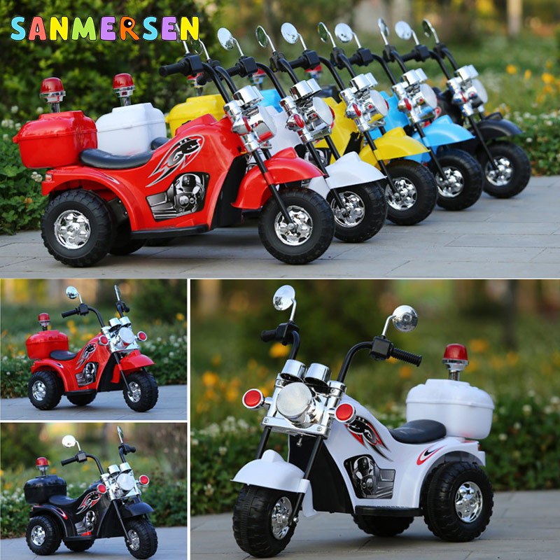 NEW Cool Children Electric Motorcycle Tricycle Off-road Charging Motorcar Baby Three Wheels Ride On Car Toys Gift For Boys Girls