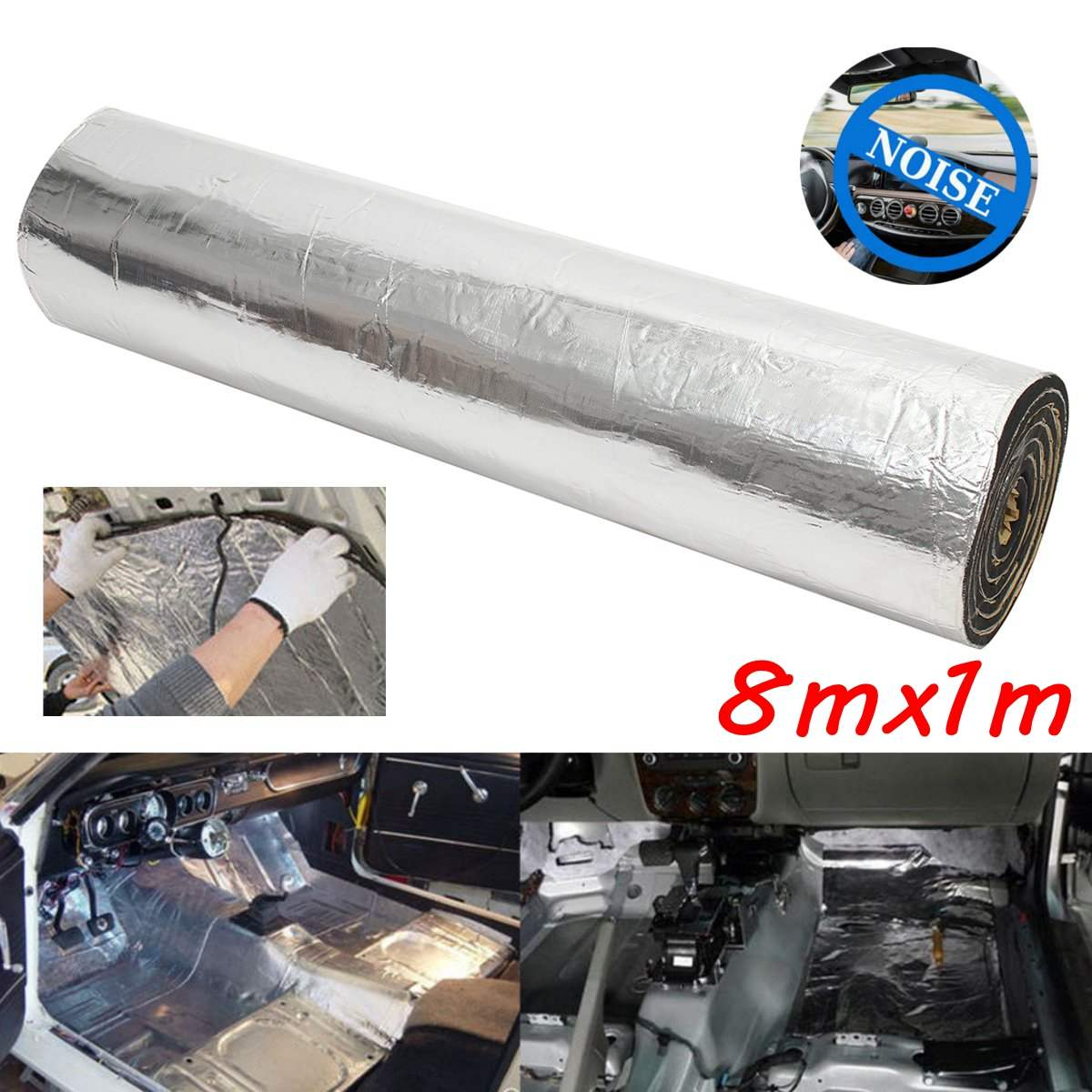 1M X 8M 5mm Car Truck Firewall Heat Sound Deadener Insulation Mat Noise Insulation Wool Car Heat Sound Thermal Proofing Pad