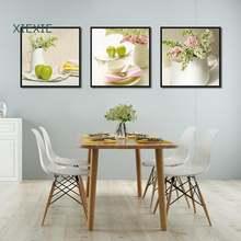 Ваза для обеденного стола Картина на холсте розовый белый Цветочный