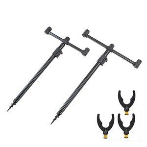 Image 2 - Carp Fishing Rod Pod Set 2pcs Bank Sticks and 2pcs Buzz Bars for Carp Coarse Fishing Tackle