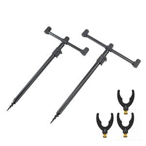 Image 2 - Conjunto de vara de pesca de carpa, 2 peças, varas bancárias e 2 peças, barras de buzz para equipamento de pesca grossa
