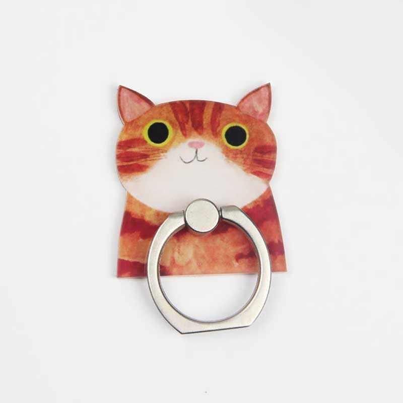 קריקטורה חתולים אוניברסלי טלפון טבעת מחזיק טלפון נייד מחזיק מעמד אצבע טבעת מחזיק suporte celular עבור iPhone סמסונג שולחן