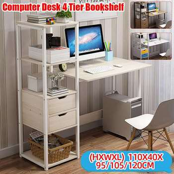 Computer Desk w/  Bookshelf Workstation 1