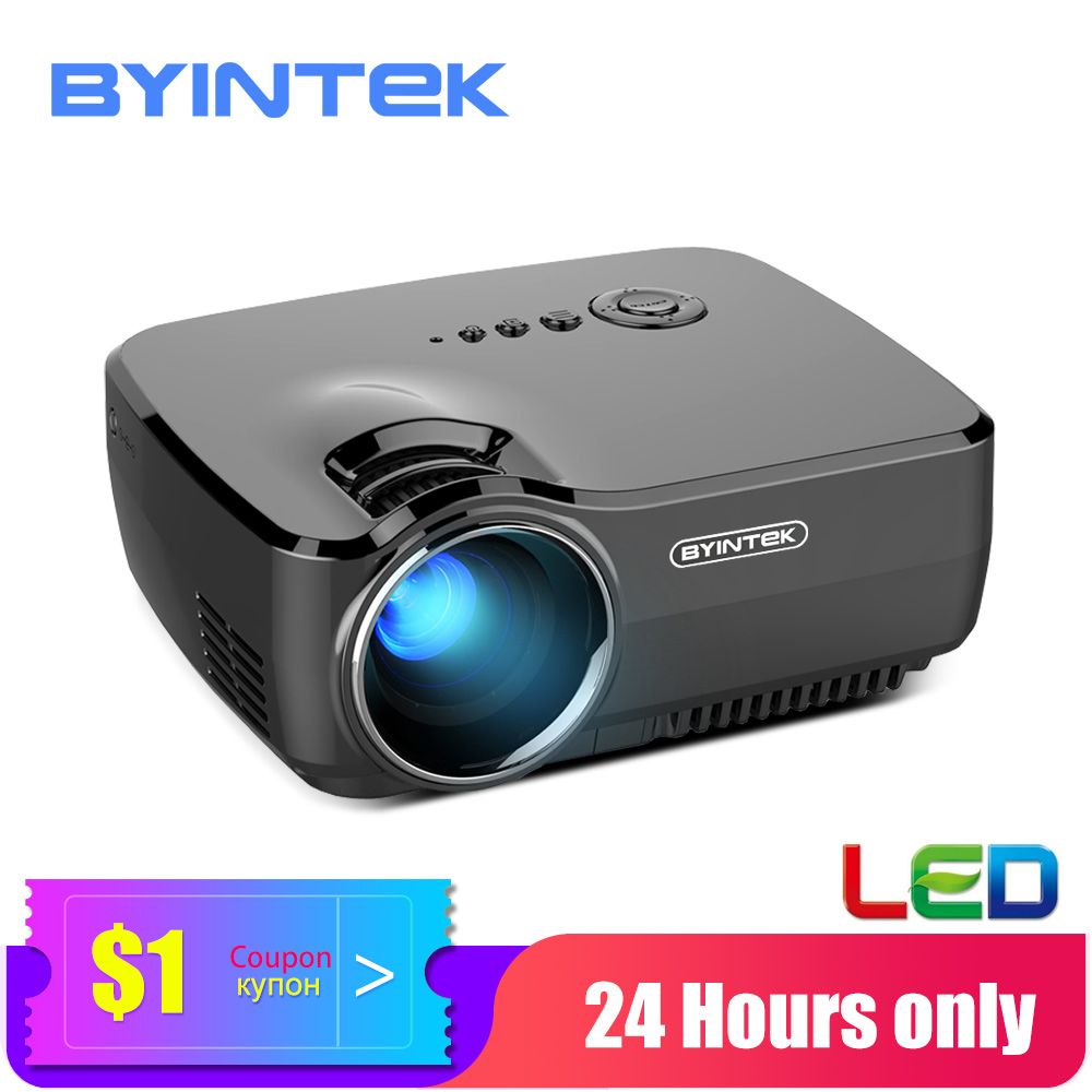 BYINTEK Mini projecteur GP70, projecteur Home cinéma Portable, Proyector LED pour cinéma 1080P 3D 4K