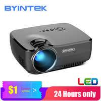 BYINTEK Mini Proyector GP70 portátil de cine en casa Beamer Proyector de LED para 1080P 3D 4K de cine