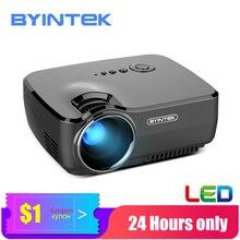 Mini projetor gp70 de byintek, beamer portátil do teatro em casa, proyector do diodo emissor de luz para o cinema 1080 p 3d 4 k