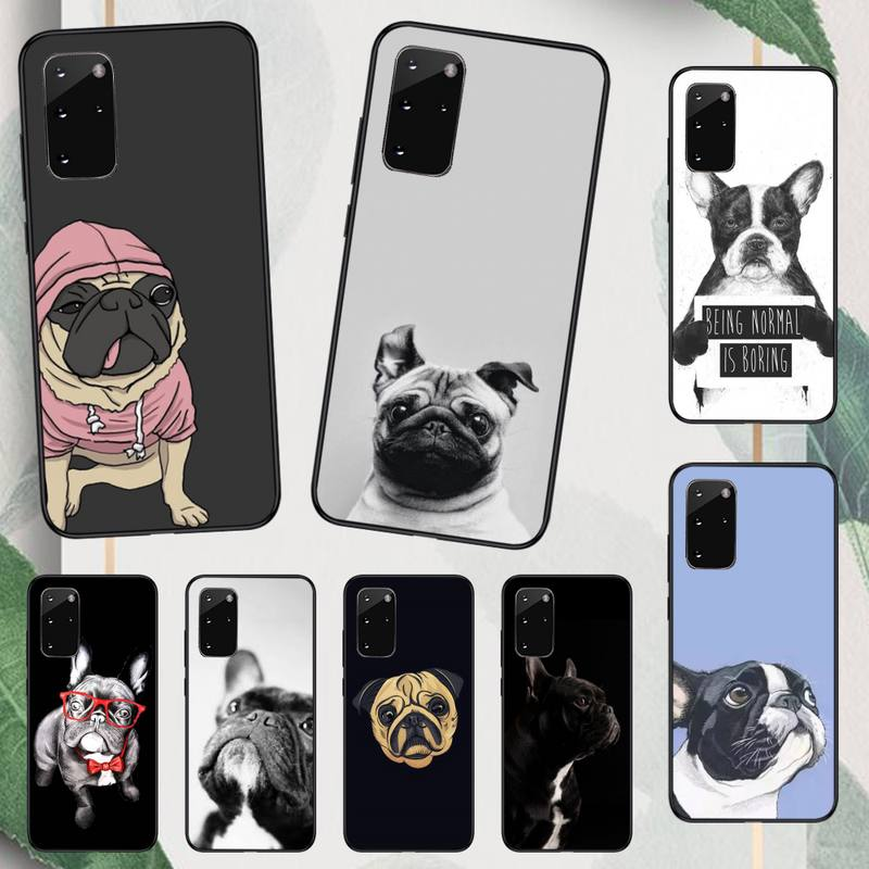 Cute Funny French Bulldog Phone Case For Samsung A50 A51 A71 A20E A20S S10 S20 S21 S30 Plus Ultra 5G M11