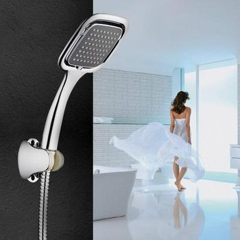 Large Rainfall Hand Shower Hand Held Rainfall High Pressure Shower Head Set Bathroom Faucet with 1.5m Shower Hose Accessories