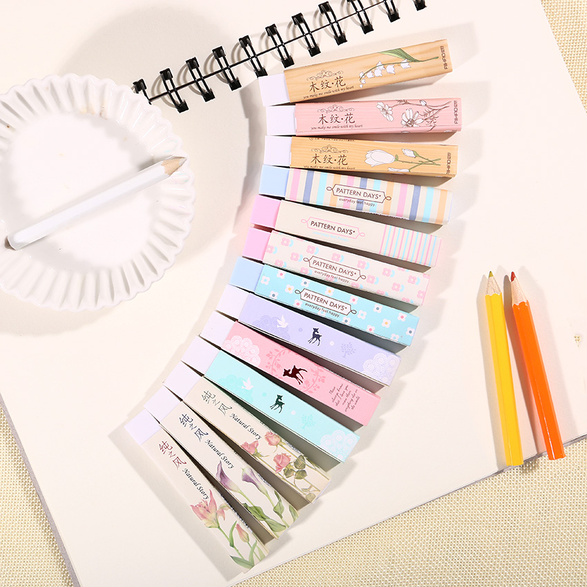 1PC Stationery Supplies Kawaii Cartoon Pencil Erasers For Office School Kids Prize Writing Drawing