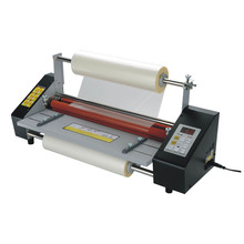 I9350T 33.5 centimetri (A3 +) A Quattro Rulli Laminatore 220V Hot Roll Macchina Di Laminazione, regolazione della velocità della macchina di laminazione