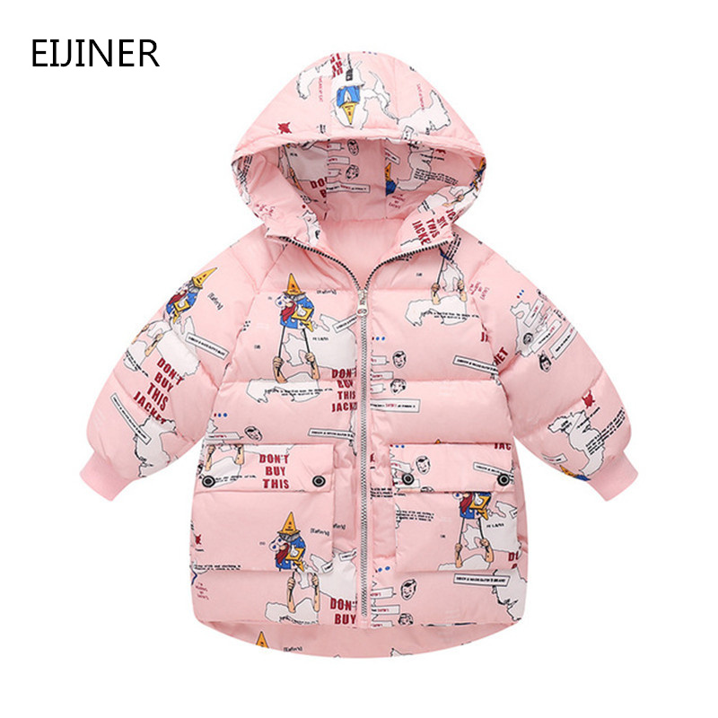 Boys Winter Jackets Coats Outerwear Girls Thick Kids Children Warm Autumn Cotton Printing